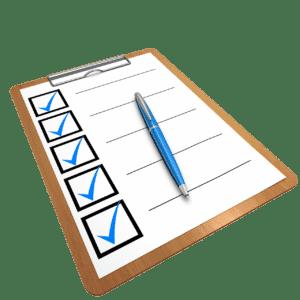 Waschtrockner Checkliste